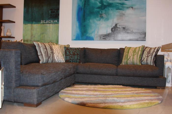 Oliver Sectional in Textured Whirlpool Fabric