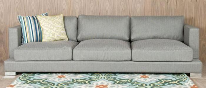 Oliver Sofa in Grey Textured Fabric