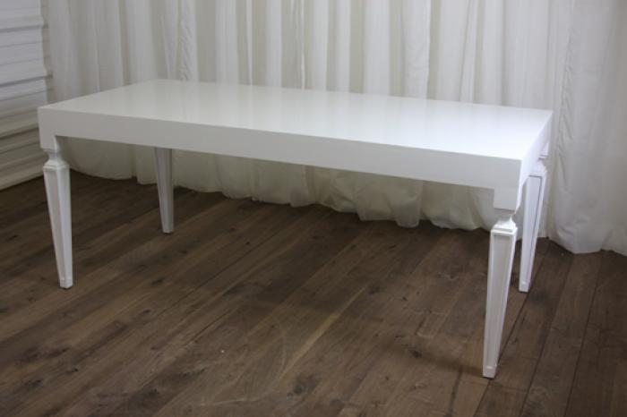 Palm Beach Dining Table in White