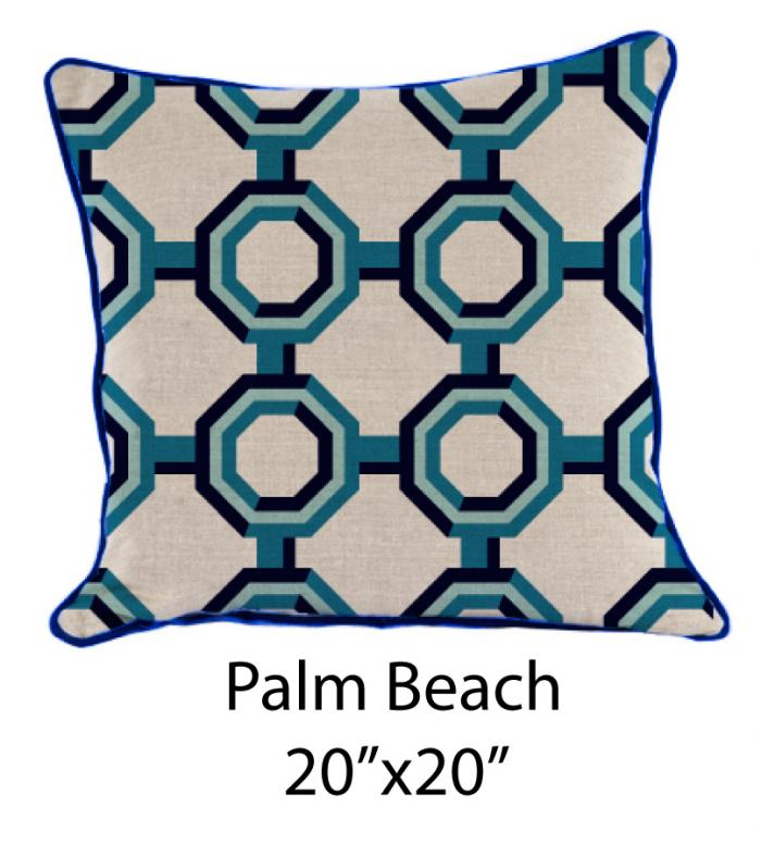 Palm Beach Oatmeal/Turquoise/Navy
