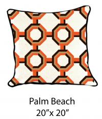 Palm Beach White/Orange/Brown/Mustard