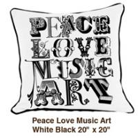 Peace Love Music Art White / Black