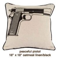 Peaceful Pistol Oatmeal Linen / Black