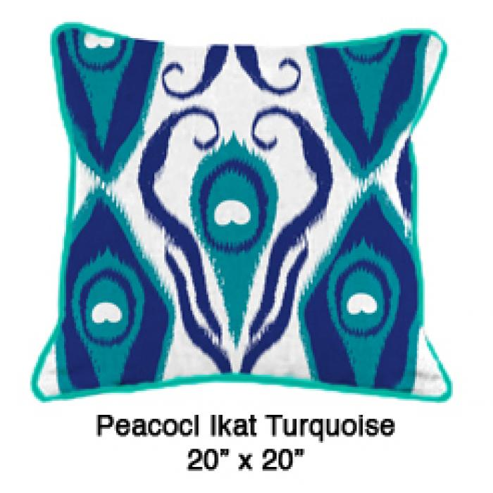 Peacock Ikat Turquoise