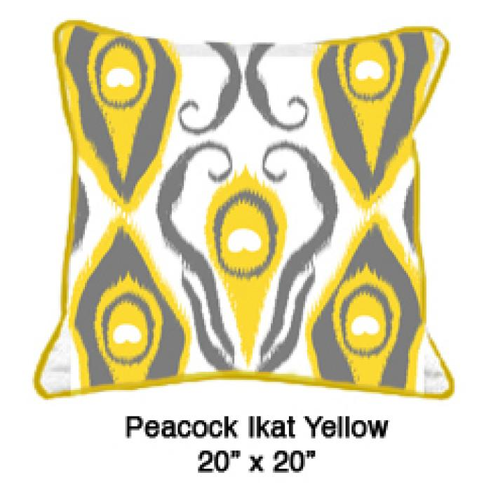 Peacock Ikat Yellow