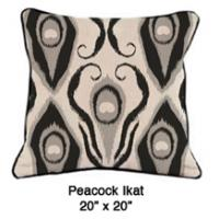 Peacock Ikat Black