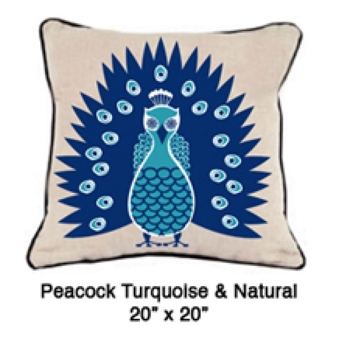 Peacock Turquoise & Natural