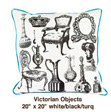 Victorian Objects White / Black / Turq