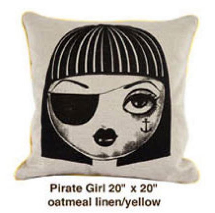 Pirate Girl Oatmeal Linen / Yellow