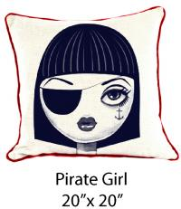 Pirate Girl White/Navy/Red
