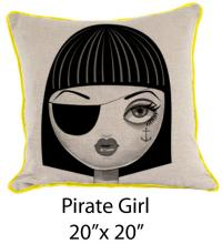 Pirate Girl Oatmeal/Black/Yellow