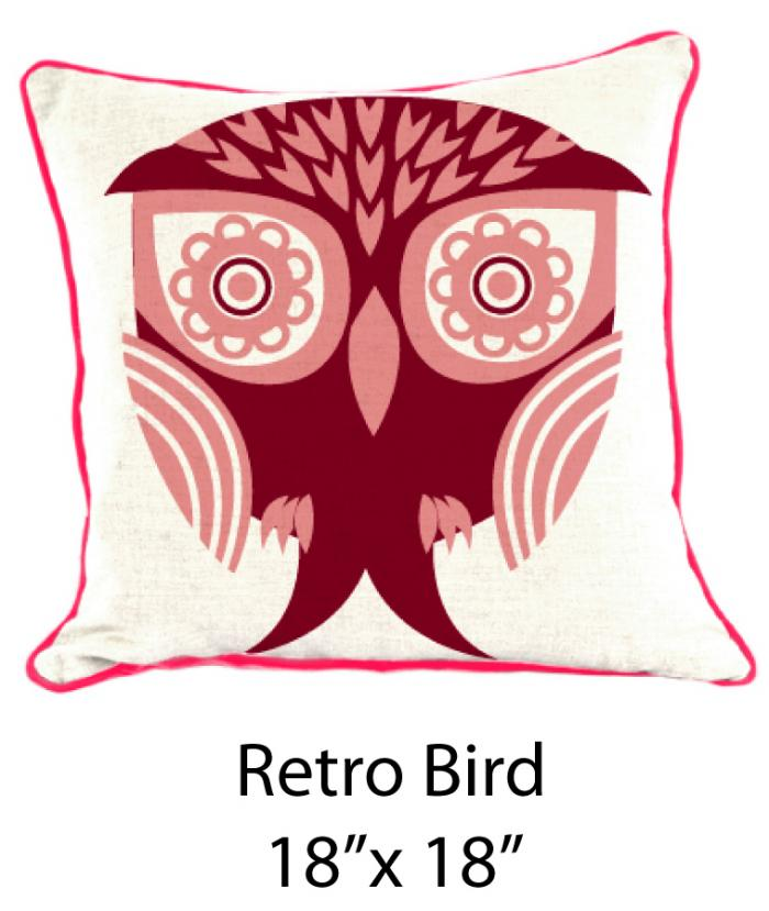 Retro Bird White/Pink/Burgundy