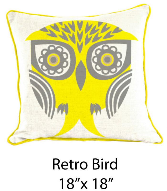 Retro Bird White/Gray/Yellow
