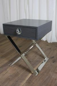 Rocker Boca X Base Side Table in Gray