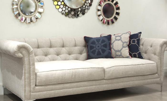 Superb Natural Oatmeal Linen Roosevelt Sofa