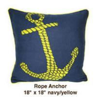 Rope Anchor Oatmeal Navy / Yellow