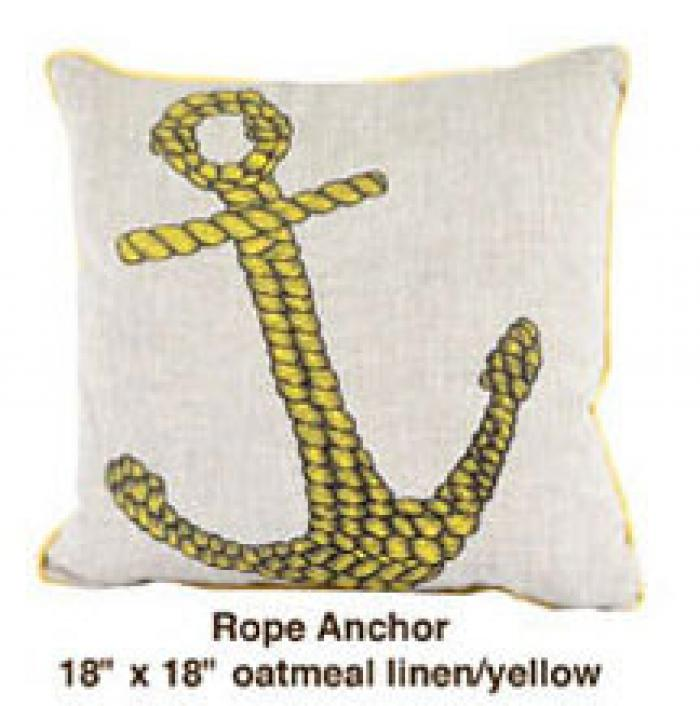 Rope Anchor Oatmeal Linen / Yellow