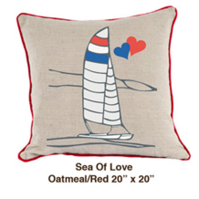 Sea of Love Oatmeal / Red