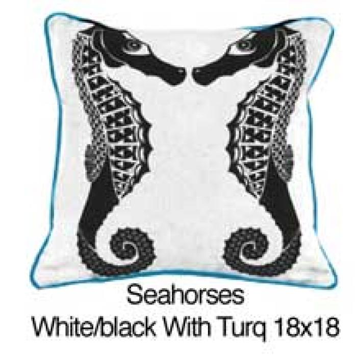 Seahorses White / Black