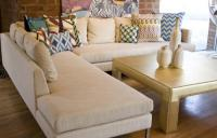 Slim Jim Sectional in Natural Linen