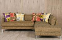 Slim Jim Sectional in Textured Linen