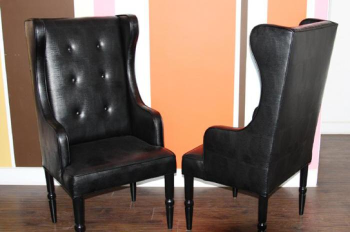 St. Tropez Wing Chair in Faux Lizard