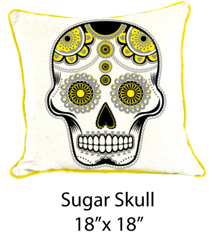 Sugar Skull White/Black/Yellow