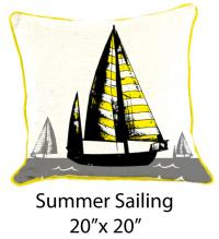 Summer Sailing White/Gray/Black/Yellow