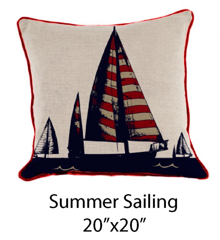 Summer Sailing Oatmeal/Red/Navy
