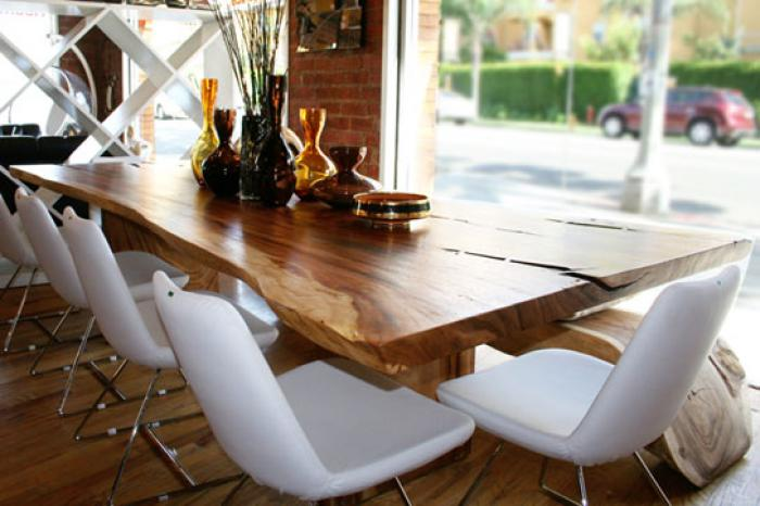 The Eco Dining Table Made From Acacia Tree Wood
