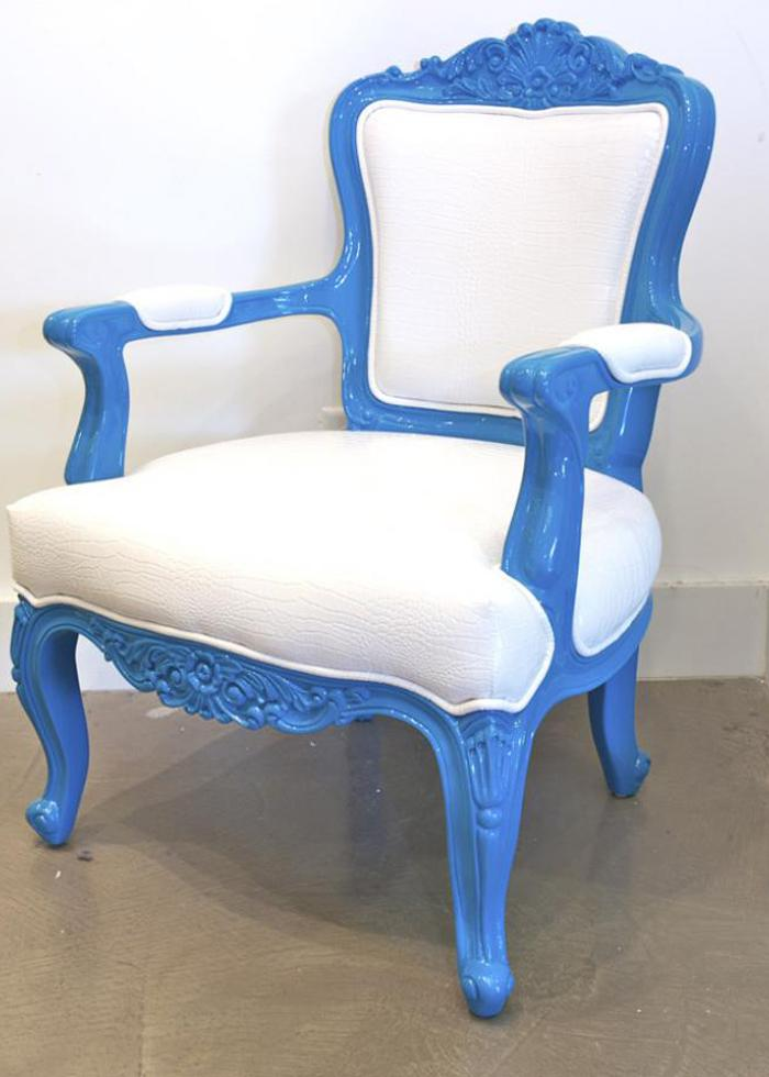 Turquoise Philippe Chair