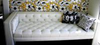 Viceroy Sofa with Faux Leather in White