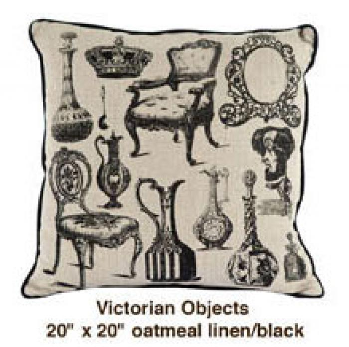 Victorian Objects Oatmeal Linen / Black