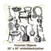 Victorian Objects White / Black / Yellow