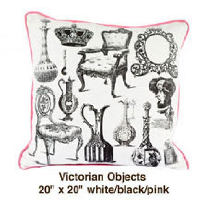 Victorian Objects White / Black / Pink
