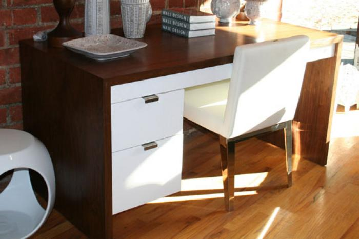 Www Roomservicestore Com Walnut Desk With 2 Drawers In