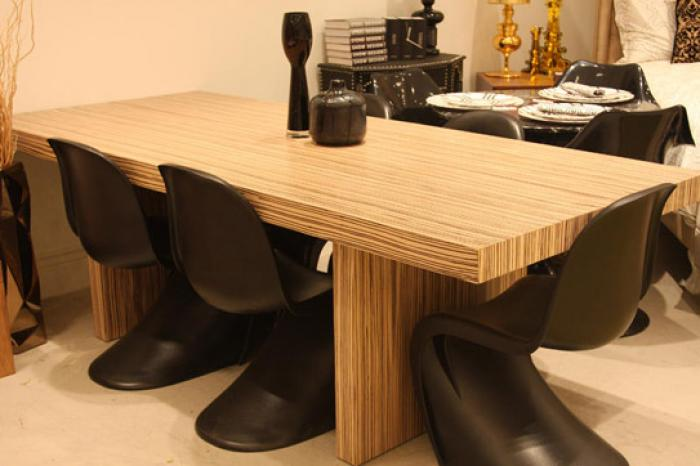Amazing Zebrawood Plinth Dining Table