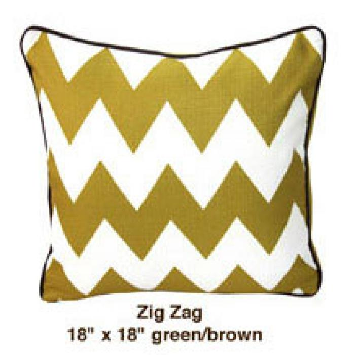 Zig Zag Green / Brown