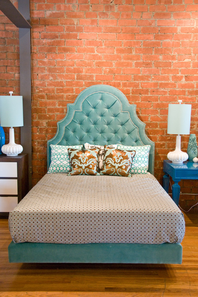 find this funky headboard at room service with funky bed headboards.