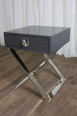 BRocker Boca X Base Side Table in Gray