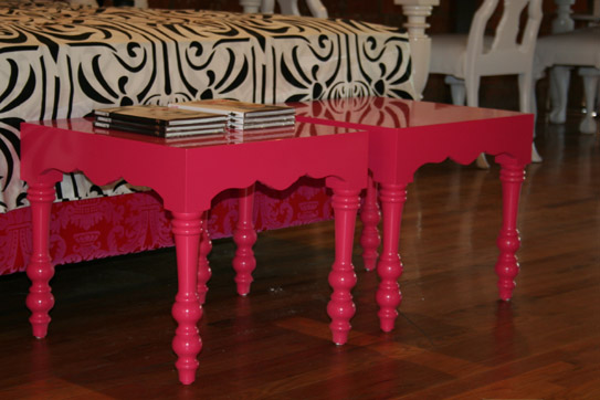 Hot Pink Regency Side Table