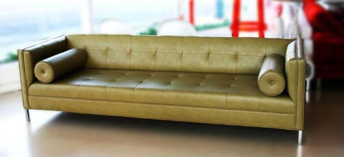 007 Sofa Phoenix Faux Leather In Light Green