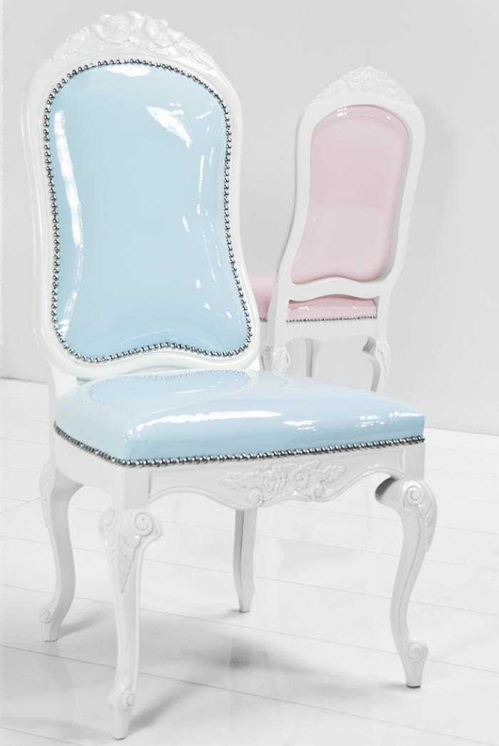 Monte carlo dining chair in for Colorful leather dining chairs