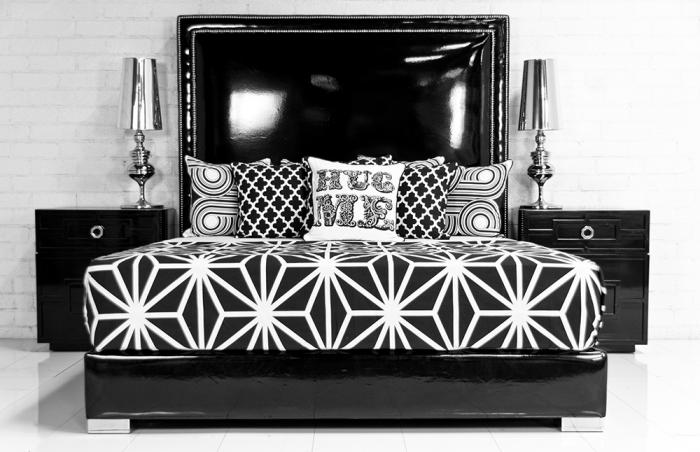 Www Roomservicestore Com Palm Beach Bed In Black Faux
