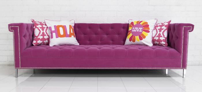 Sinatra sofa in pink velvet for Pink sofa login