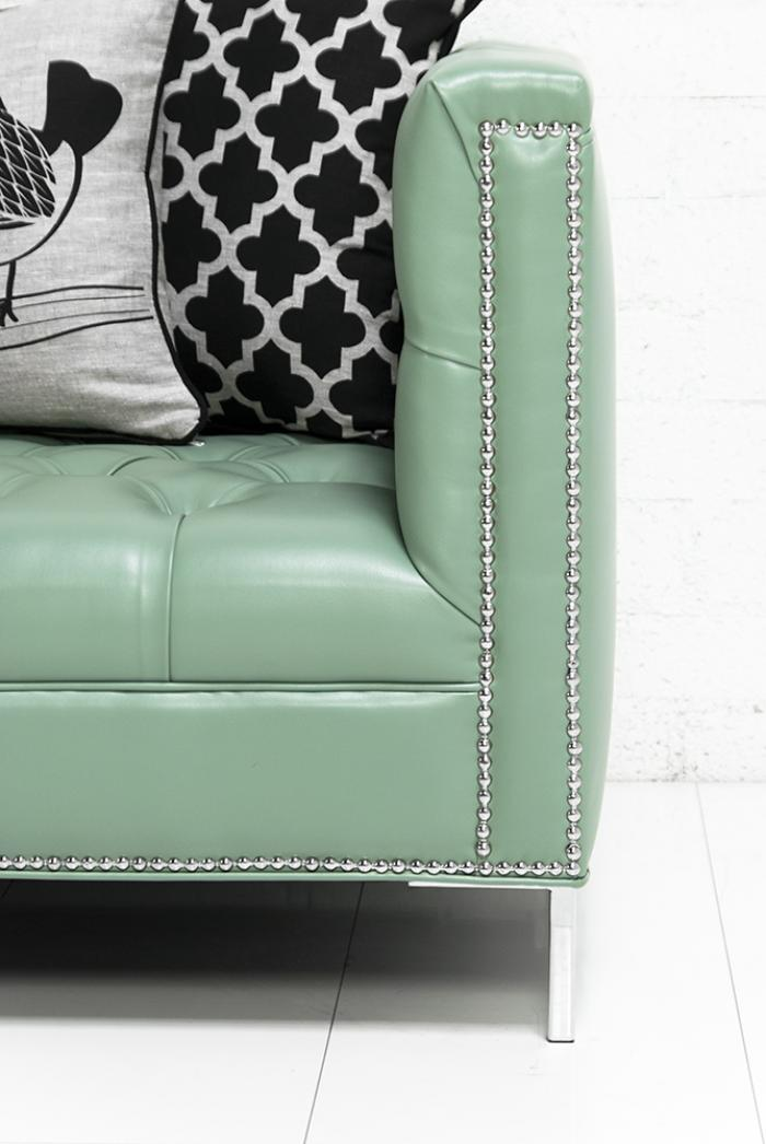 Seafoam Green Leather Sofa Zef Jam