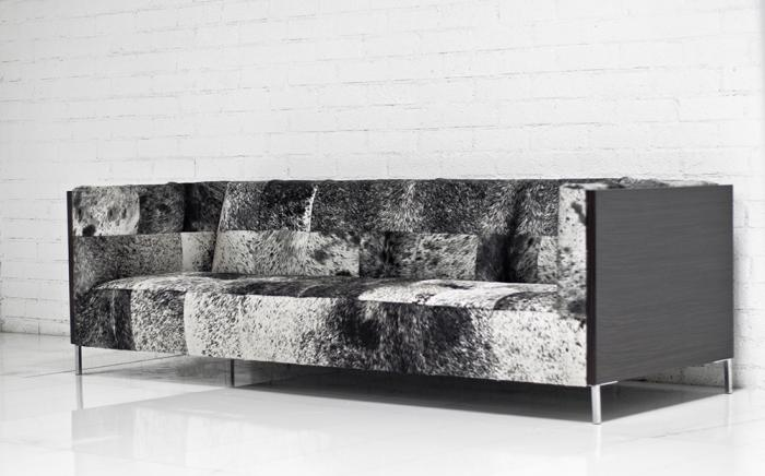 koenig cowhide sofa. Black Bedroom Furniture Sets. Home Design Ideas