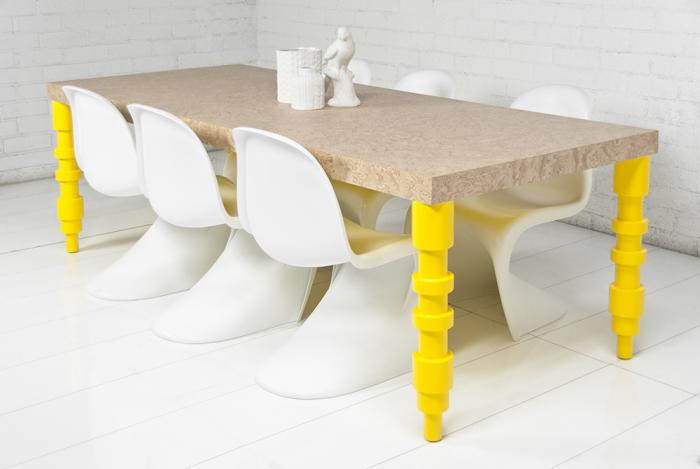 Concord Dining Table In Burl Wood