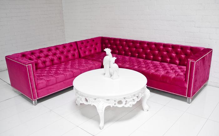 Www Roomservice Com Hot Pink Hollywood Sectional