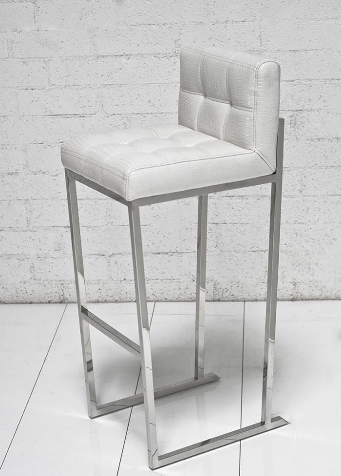 White Croc Bar Stool